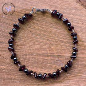 Garnet & Hematite Bracelet